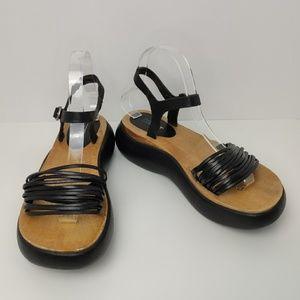 Esprit Black Sandals Daquiri Size 7.5